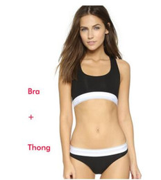 Wholesale Running Sports Bras - free shipping Running Sports Shirts for Yoga Gym bras Bra+ Thong Fitness Patchwork Tops Bra+thong suit