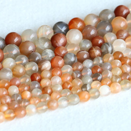 "Wholesale 8mm Black Beads - Real Genuine Natural Multi-color Yellow Orange Moonstone Sunstone flash light Round Loose Gemstone Ball Beads 6mm 8mm 10mm 15"" 05143"