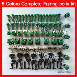 Wholesale Zx6r Body - Fairing bolts full screw kit For KAWASAKI NINJA ZX6R 03 04 05 06 ZX-6R 6 R ZX 6R 2003 2004 2005 2006 Body Nuts screws nut bolt kit 13Colors