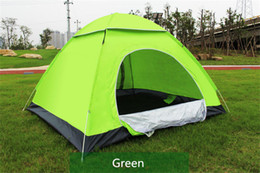 Wholesale parking tents - Quick Automatic Opening Hiking Camping Tents Outdoors Shelters UV Protection Summer Beach Graduation Travel Lawn Park Home 3-4 Persons Tent