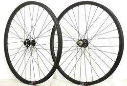 Wholesale Mountain Bike Wheel Hub - Free shipping27.5ER 27mm Width 25mm depth MTB Carbon Wheels Mountain bicycle XC carbon wheelset with Novatec 771 772 hub