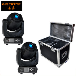 Wholesale Face Displays - Flightcase 2in1 For 2XLOT 90W Gobo LED Moving Head Light 3 Face Prism With LCD Display DMX Controller 6 15 Channel High Quality 100V-220V