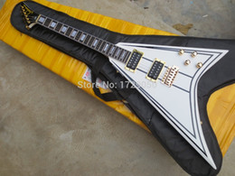 Wholesale Custom Shop V - Top Quality China Custom Shop Electric Guitar Jackson Randy Rhoads Limited Pinstripe V Guitar Free Shipping with bag 1 10