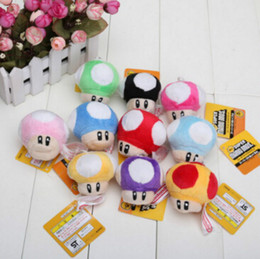 Wholesale Mobile Phone Hanging Doll - Fashion children's toys super Marie brothers mushroom mobile phone bag hanging plush toy doll 10 colors optional