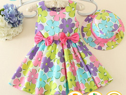 Wholesale Girls Summer Dresses Wholesale - china wholesale kid clothing summer 1 year old baby party girls one piece dress cute floral printed dresses