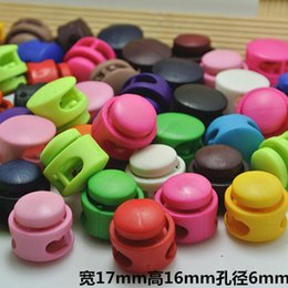 Wholesale Rope Stopper - 20pcs MEETEE Multi-color Cylindrical Stopper Toggle Spring End Buckle Rope Clamp Cord Locks Round