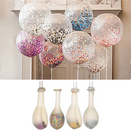 Wholesale Latex Foam Wholesale - 12inch Magic Foam Sequin Decorative Balloons Children Kids Latex Toy Balloons Wedding Decor Accessories Party Favors