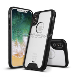 Wholesale Clear Iphone Case High Quality - High Quality Ultra Thick Crystal Clear Case For iPhone X Hard Acrylic Back HD Cover Transparent Shockproof Protective Cases For Galaxy Note8