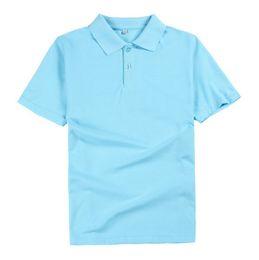 Canada Vogue de nouveau fonds de 2017 couleur pure coton personnalisé POLO hommes vêtements de travail à manches courtes revers t-shirts en gros de haute qualité supplier wholesale color polo shirts Offre