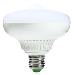 Wholesale Motion Sensor Led 12w - Wholesale-New PIR Infrared Motion Sensor 12W Smart LED Bulb Auto Motion Sensor Detection LED Lamp Bulbs