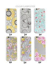 Wholesale Apple Iphone 4s For Sale - 2017 Hot sale Creative flowers Embossed mobile phone shell phone cases FOR iphone 7 6 6s  5 5s 4 4s