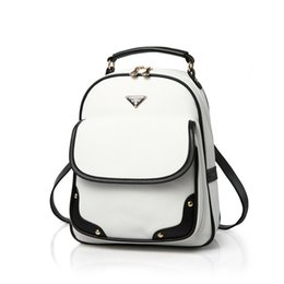 Wholesale Red Leather String Gold - Wholesale- fashion designer women backpack girl school pu leather shoulder bag of famous brand cute white mini black book bags female bolsa