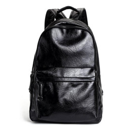 Wholesale cross body backpack for men - Factory wholesale brand package, fashion upgrade, PU leather leisure backpack, simple, multi-functional leather bags for students