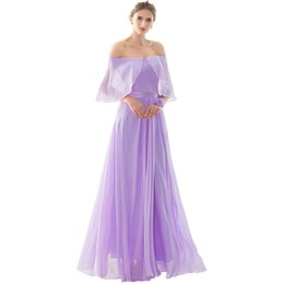 Wholesale Fast Delivery Prom Dresses - A-Line Chiffon cheap bridesmaid dresses robe de soiree Empire 2017 Draped Prom Wedding party Dresses bridesmaid dress under 50 Fast Delivery