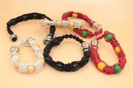 Wholesale Wholesale Rasta Beads - free shipping USA France wrist bracelet Smoking pipes metal bead tobacco herb spice pipes for sneak a toke wooden Jamaica Rasta smoking gift