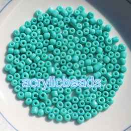Wholesale White Opaque Beads - 500pcs 3mm Opaque Cezch Glass Seed Beads Solid Color Loose Spacer Miyuki Beads Jewelry Finding DIY