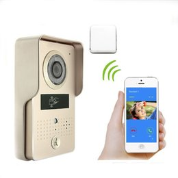 Wholesale Video Doorbell Waterproof - Wifi IP Camera Wireless Intercom Enabled Video Doorbell Supports IOS Android,PIR Motion activated,Waterproof,unlock by phone or Tablet
