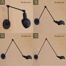 Wholesale Adjustable Light Arms - Loft Industrial adjustable long swing arm Wall lamp Fixture Vintage Edison bulb wandlamp lamparas de pared lights lampen sconce