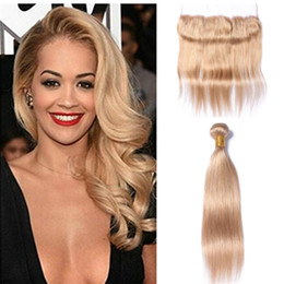 Wholesale Hair Extension Free Sample - Peruvian Virgin Hair Honey Blonde Straight Wave Hair Extension Straight Blonde Human Hair Weave Extensions With Lace Closure Free Sample