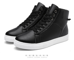 Wholesale Men S Height Increasing Shoes - 2016 autumn and winter men 's young men' s shoes black and white men 's casual shoes Korean version of the trend hot sale