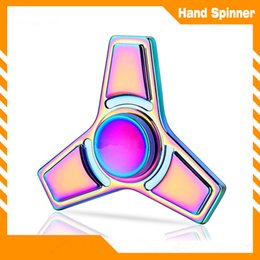 Wholesale Cheap Kid Play - 2017 Best leading trends toy cheap price retail rainbow colors hand playing zinc alloy fidget spinner alloy