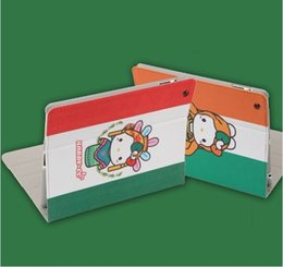Maçã ipad laranja on-line-Dos desenhos animados orange menina estilo livro pad casos para ipad mini 2 3 4 ultra fino suporte de couro artificial case 9.7 polegadas ipad pro air 2 capas dobráveis