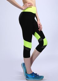 Wholesale Exercise Clothing For Women - Wholesale- New Fashion Women Breathable Fitness Leggings Stitching super stretch thin Pants Exercise Workout Clothes For Women