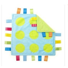 Wholesale Comfort Blankets - Wholesale- 27*27CM Super Soft Rattle Baby 0M+ Plush Soothe Towel Comforting Toy Educational Security Blanket
