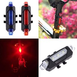 Wholesale xenon set - bike led tail lights Portable USB Rechargeable Bike Bicycle Tail Rear Safety Warning Light Taillight Red Lamp