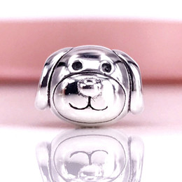Wholesale Authentic Pandora Dog Charm - European Style Authentic 925 Sterling Silver Devoted Dog Charm Fit For Pandora Snake Chain Bracelet DIY Jewelry 791707