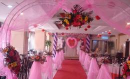 Hochzeitsfestdekoration Tulle romantischer Vorhang Organza Voile Chiffon für Hochzeitshintergrund Stuhlabdeckung Tabelle Rock 50cm * 9m von Fabrikanten