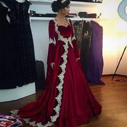 Elegante Vestidos de Noite Vestidos Quadrados Pescoço Até O Chão Mangas Compridas Mangas Turcas Cafetão Marocaine 2017 de Fornecedores de roupas brancas para mulheres atacadistas
