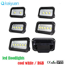 Wholesale 3 year warranty LED Flood light W W W W w RGB Warm Cool Whit project Floodlights Waterproof Outside lamp lighting v