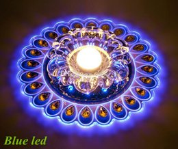 Wholesale Peacock Lamps - Free shipping 3W LED crystal ceiling lamp for entryway LED Crystal Ceiling lamp lighting peacock light