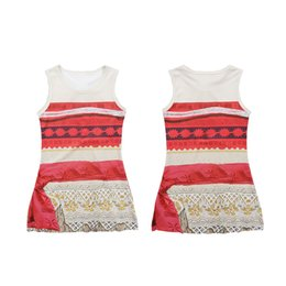 Wholesale Wholesale Dresses For Sale - Princess Moana Cosplay Costume Carnival Christmas Movie Moana Dress Sleeveless One-piece Printed Dress for Kids Hot Sale 3003201