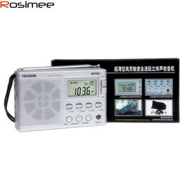Wholesale Frequency Receiver - Wholesale-Teh son R-9702 Digital Stereo Radio Frequency Conversion FM MW SW Multi-bands Receiver FM Radio Portable Radio Speaker Clock