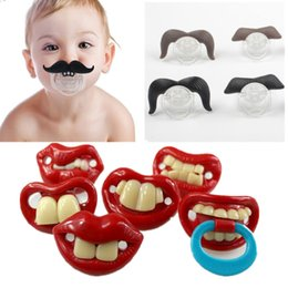 Wholesale Baby Funny Nipples - Silicone Funny Nipple Dummy Baby Soother Joke Prank Toddler Pacy Orthodontic Nipples Teether Baby Pacifier Christmas Gift