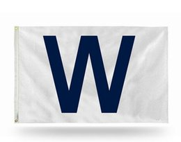 Wholesale Wholesale Team Flags - Chicago Cubs team flag 3 'X 5' MLB NHL fan W flag 150 X 90 cm banner brass metal holes flag