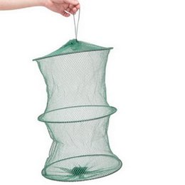 Wholesale Dip Nets - Great Crab fish Crawdad Minnow Fishing Bait Trap Cast Dip Net Cage FM Green F00072 SMR