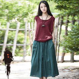 Wholesale Pink Tank Top Small - Summer women 's clothing art lovers type small vest linen linen women' s sleeveless vest