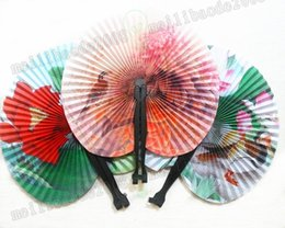 Wholesale Paper Folding Arts - Summer Style Art Chinese Folding Hand Paper Fans for Event Party Wedding Home Decoration Crafts Women Dancing Fan MYY