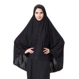 Wholesale Muslims Women - 2017 New Arrival Morden Muslim Women Full Cover Black Hijab Classic Islamic Fashion Headwer & Scraf M-XL