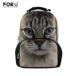 Wholesale 3d Bagpack - Wholesale- Fashion Women Backbag 3D Animal Backpacks Cute Cat Owl Tiger School Bagpack for Girls Students Children's School Bag Backpack