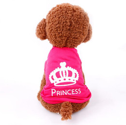 Wholesale Princess Dog Coat - Cute Dog clothes Summer vest PET T shirt Clothes Vest Princess Summer Coat Puggy Costumes DHL free ship