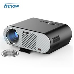 Wholesale Beamer Lamp - Wholesale-Original Vivibright GP90 Projector 3200 Lumens 1280*800 LED lamp LCD Projector for Home Theater Meeting HDMI VGA USB AV Beamer