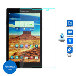 Wholesale Ipad Clear Screen Covers - Wholesale- Explosion-Proof Toughened Tempered Glass For Lenovo Tab S8 S8-50 S8-50L S8-50F S8-50LC Film Clear Screen Protect Cover Guard