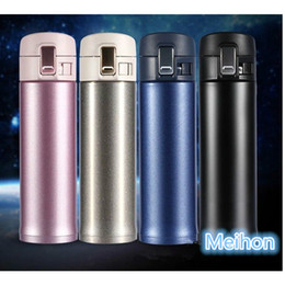 Wholesale Metal Sleeve - 500ml stainless steel thermo vacuum mug with bouncing cover Easy to carry travel mug