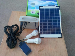 Wholesale Portable Solar Charging Kit - 10W Portable Solar Powered System Home lighting kit for Camping fishing Charge
