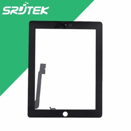 Wholesale Touch Screen For Ipad4 - Wholesale- 9.7 inch For iPad 3 4 iPad3 iPad4 Touch Screen Digitizer Glass Sensor Touchscreen Tablet Pc Replacement Parts
