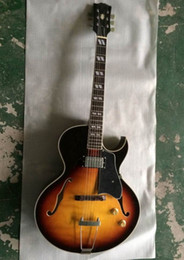 Wholesale Pick Ups For Guitar - Free Shipping Chibson ES-175 Jazz Electric guitar one piece pick ups L-5 ES175 semi hollow body in sunburst 150207
